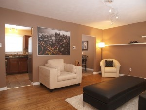 vacant home staging - Living room 2