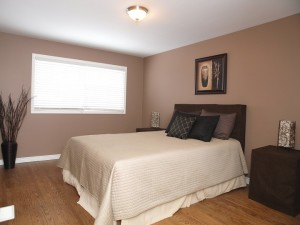 vacant home staging - Master bedroom