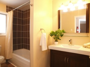 vacant home staging - upstairs bathroom