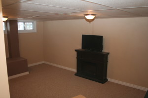 vacant home staging - rec room before