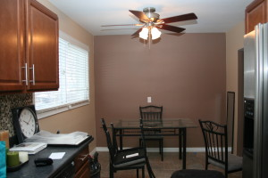 vacant home staging - dining before