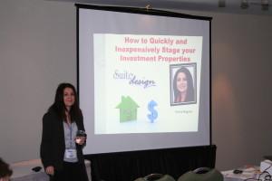 Donna presenting